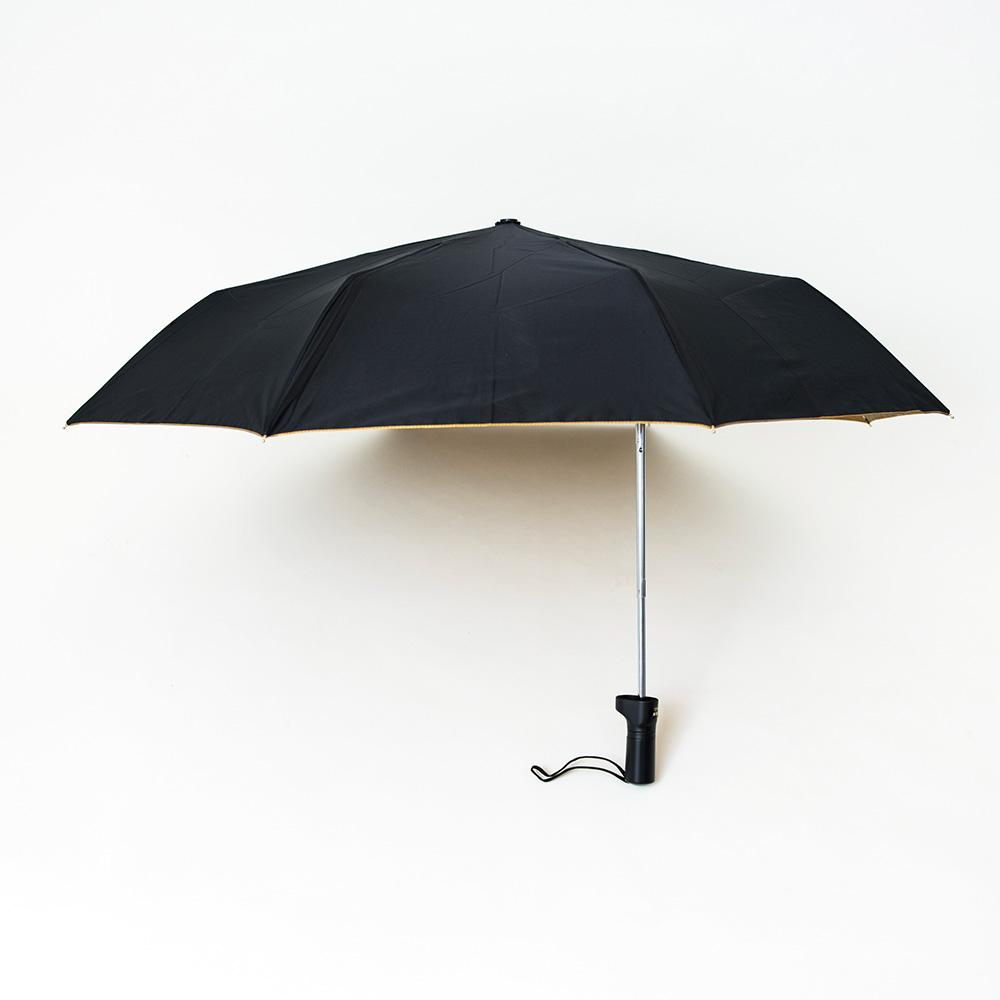 【マツコの知らない世界】バッグに優しい傘(晴雨兼用遮熱遮光UVCUT99%ゴールドコーティング折りたたみ傘無地)