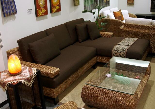 様々な組み合わせが楽しめるアジアンリゾートソファー