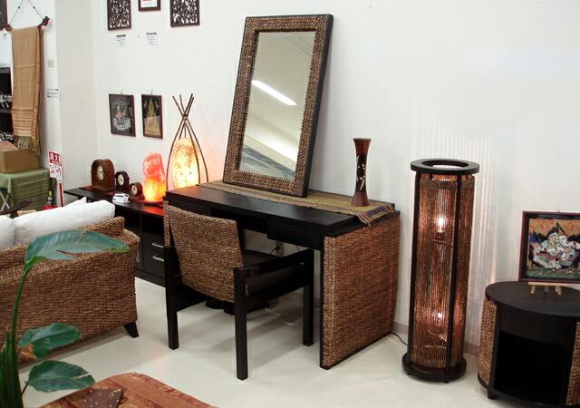 ウォーターヒヤシンスダイニングテーブル:アジアンリゾートスタイル