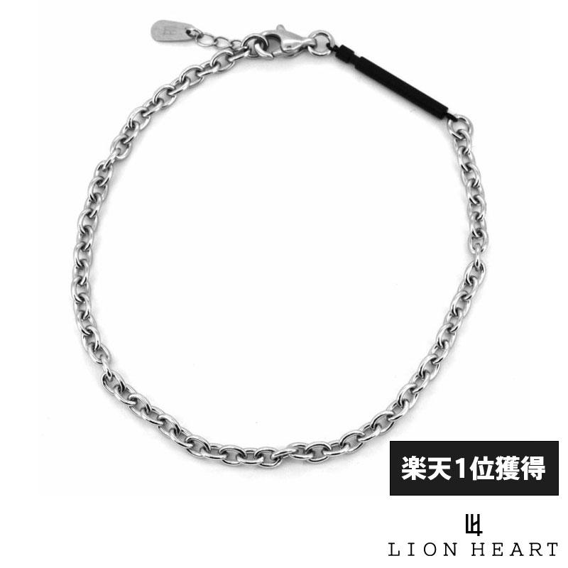 ライオンハート LION HEART スレンダリーチェーンアンクレット TYPE B アズキ サージカルステンレス ブラック