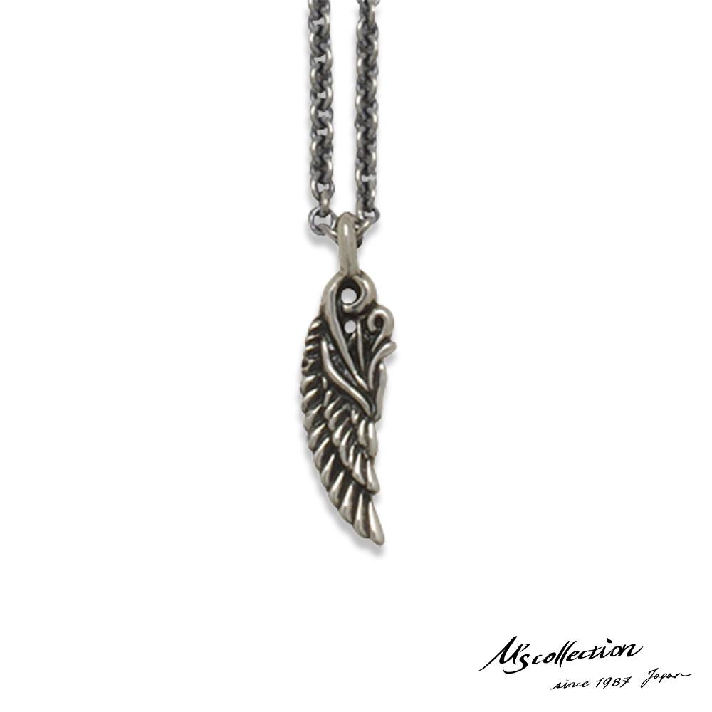 エムズコレクション ウイング ペンダント ネックレス 翼 アズキチェーン シルバー925 レディース ブランド