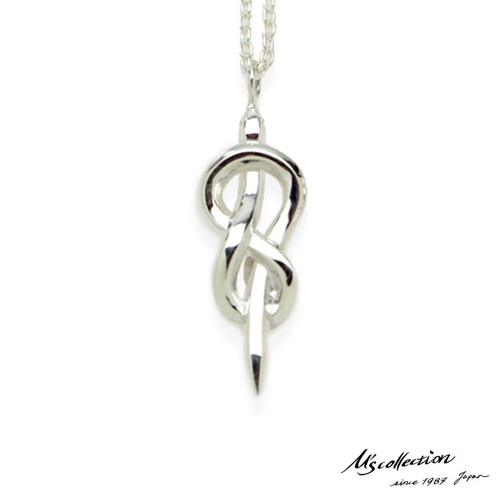 エムズコレクション スネーク ペンダント ネックレス M 50cm 蛇 アズキチェーン シルバー925 メンズ ブランド