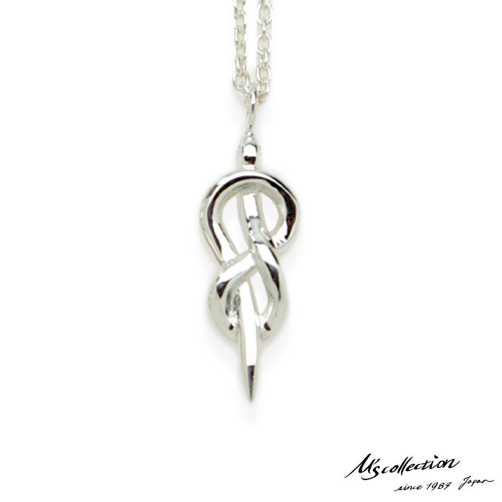 エムズコレクション スネーク ペンダント ネックレス S 50cm 蛇 アズキチェーン シルバー925 メンズ ブランド