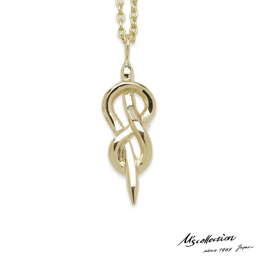 エムズコレクション スネーク ペンダント ネックレス S 45cm 蛇 アズキチェーン K10ゴールド メンズ ブランド