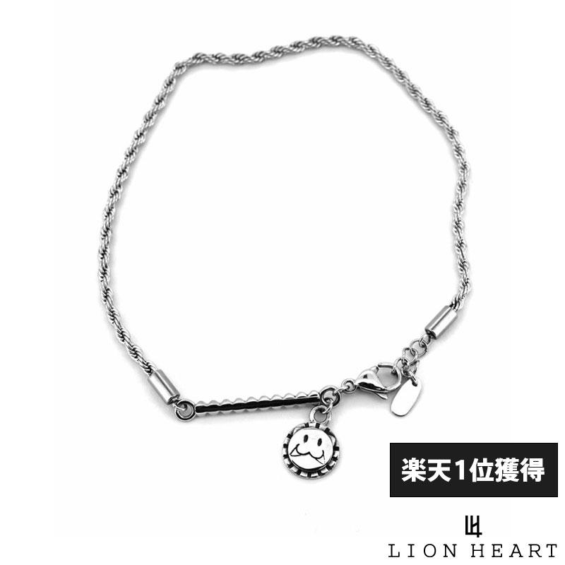 ライオンハート LION HEART レオ アンクレット ロープチェーン サージカルステンレス シルバー