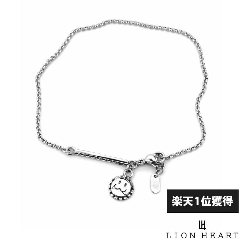 ライオンハート LION HEART レオ アンクレット 甲丸チェーン サージカルステンレス シルバー