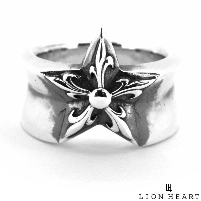 ライオンハート LION HEART ゴシック スター リング 指輪 シルバー925 17号~21号 メンズ ブランド