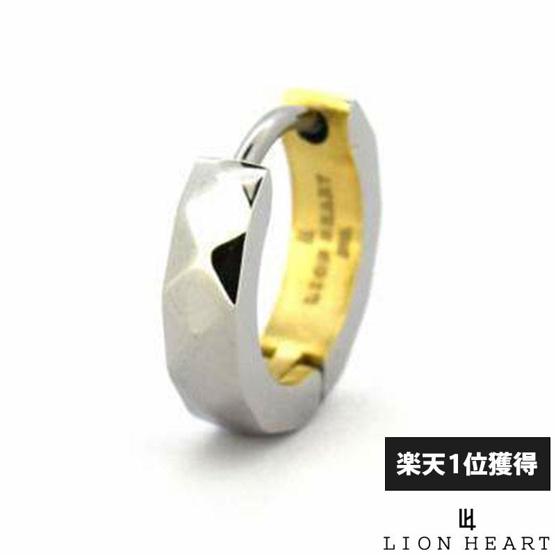 ライオンハート LION HEART カッティング フープピアス サージカルステンレス コンビネーション