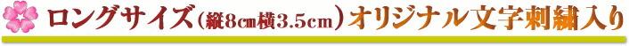 ロングサイズ(縦8cm横3.5cm)