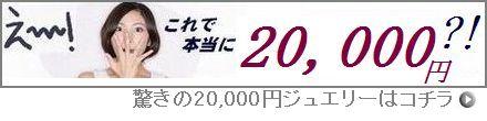 驚きの20,000円ジュエリー