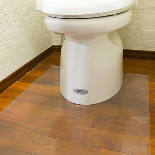 アキレス トイレ用足元透明マット トイレマット 60×60cm