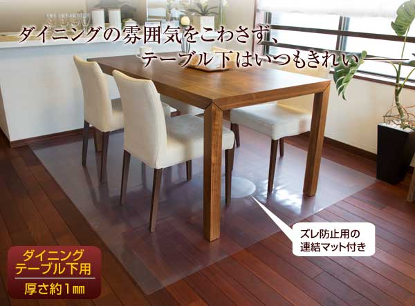 Achilles Transparence Dining Table Lower Mat Floor Protection 90 55cm