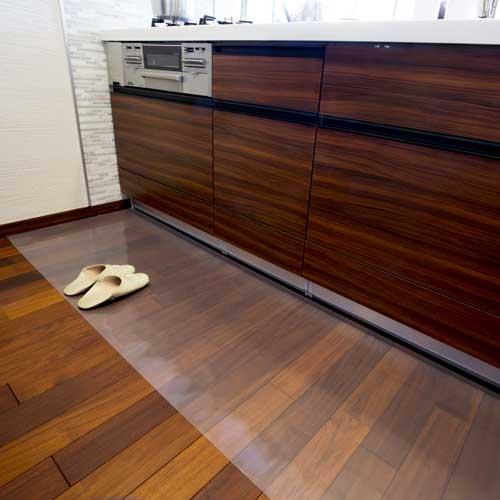 アキレス 透明キッチンフロアマット 80×90cm