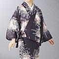 夏用 二部式着物 菊祭り