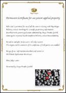 ブルーベリー&ルテイン 公開特許取得証明書