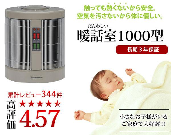 遠赤外線パネルヒーター 暖話室1000型
