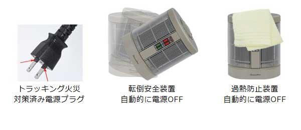 トラッキング/転倒安全装置/過熱防止装置