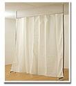 つっぱり式目隠しカーテン 暖かみのあるオフホワイト