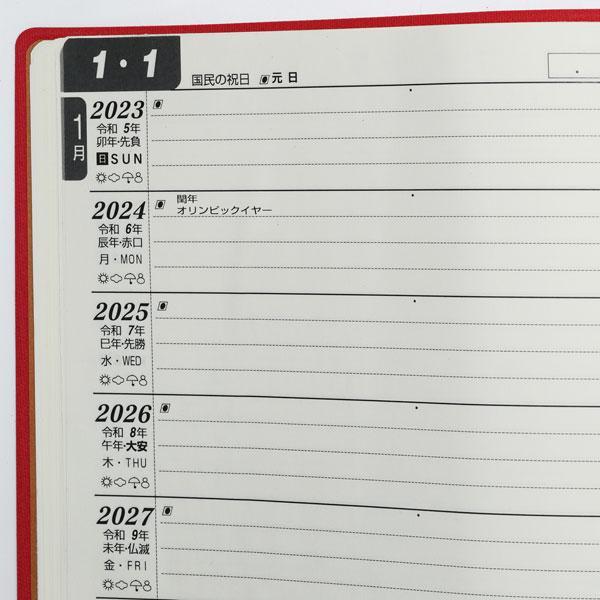 10年日記の使用例