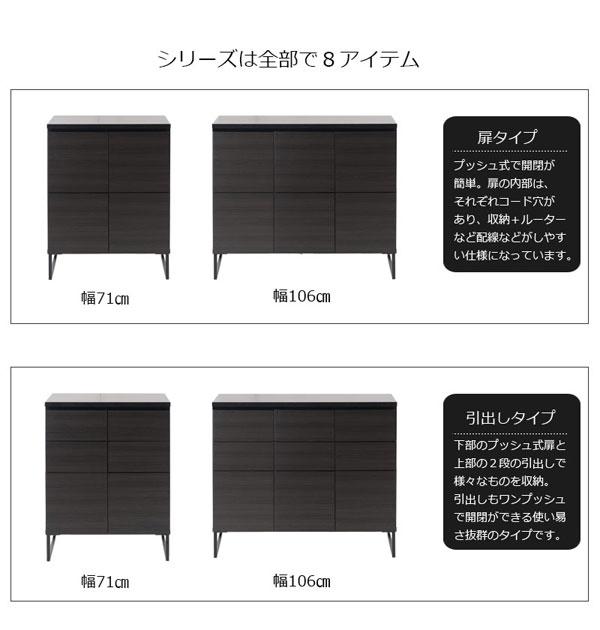 扉タイプ/引出しタイプ