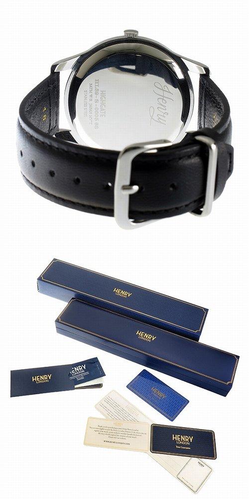 3d56c5899f 洋風 ヘンリーロンドン HENRY LONDON ピカデリー 39mm メンズ レディース 腕時計 HL39-S-0075 シルバー ブラック