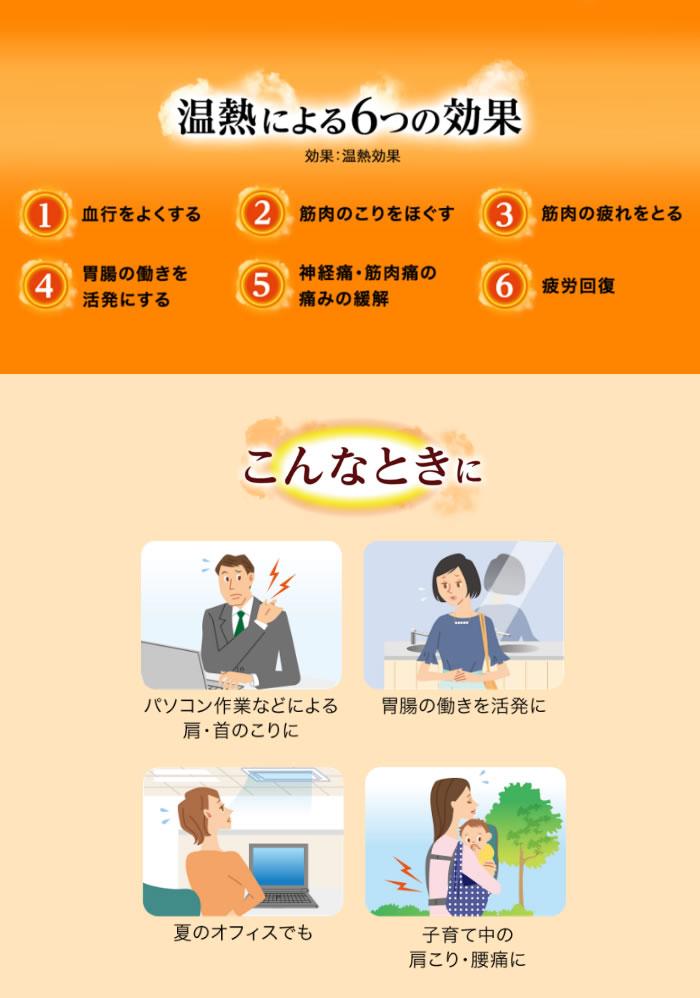 温熱による6つの効果