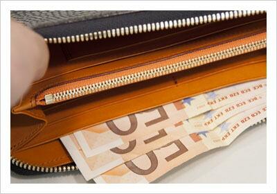WELUCK クロコ型押しレザー長財布
