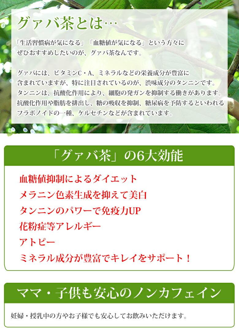 グァバ茶 国産厳選素材 国内製造 徹底した品質管理