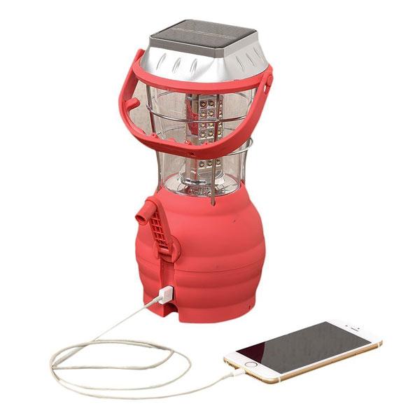 WHATNOT 多彩な充電が可能 LEDランタン 照明 ライト 充電式 電池式 USB充電 防災 アウトドア キャンプ 登山 釣り