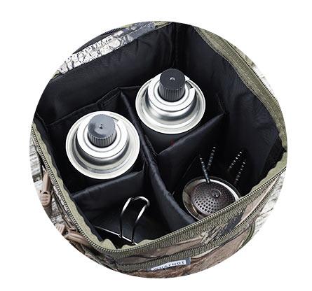 アウトドアギア マルチ収納ケース バーナー 収納ケース SOTO シングルバーナーST-310 ST-301 ST-330など 収納ケース CB缶 収納 ガス缶収納 シェラカップ 収納 WHATNOT