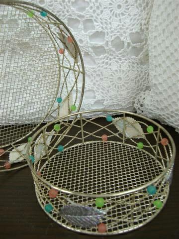 幼儿园自制篮球筐网编织图片