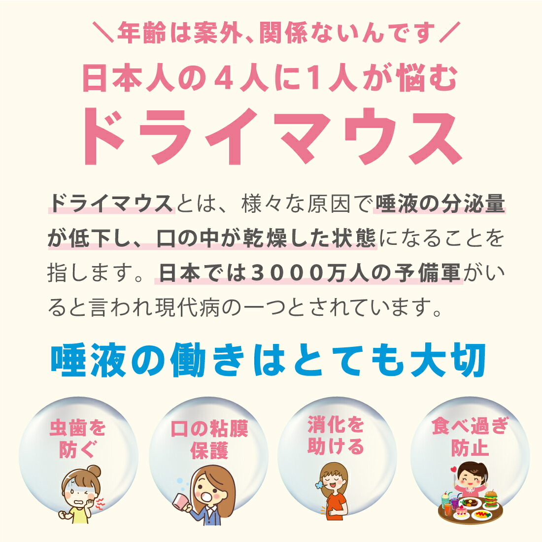 【年齢は案外、関係ないんです】日本人の4人に1人が悩むドライマウス