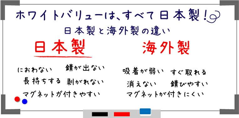 日本製と海外製の違い