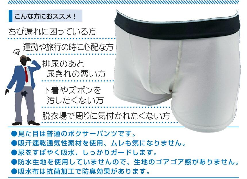 360°全面吸水サポート 尿漏れインナー 2色組