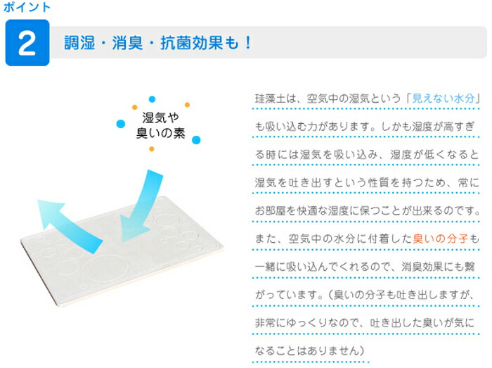 珪藻土 足晴(あっぱれ) バスマット