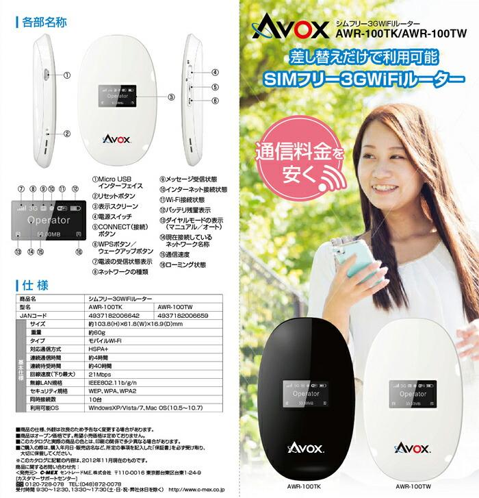 avox awr-100tk