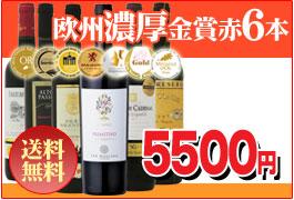 ヨーロッパ ワイン伝統国コク旨金賞受賞ワイン赤6本