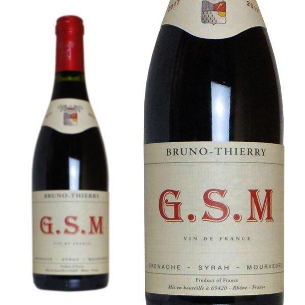 G.S.M 2017年 ブルーノ・ティエリー 750ml フランス ローヌ 赤ワイン