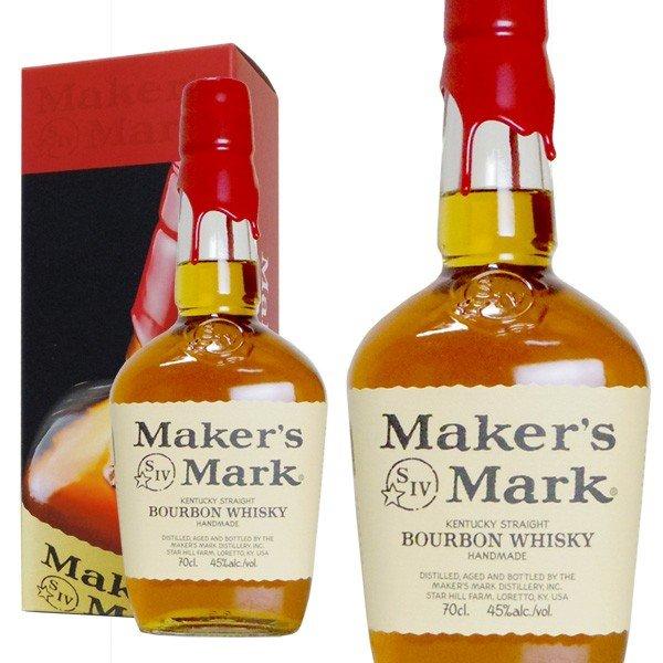 【正規品・箱入り】メーカーズマーク・バーボン・ウイスキー・正規代理店輸入品・レッド・トップ・700ml・45%