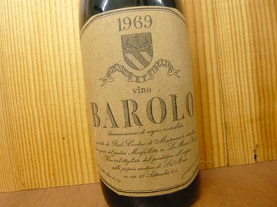 Barolo [1969] year ultimate limitation treasured Kusu-1969 元詰 Paolo Cordero  di montezemolo and DOC Barolo BAROLO Paolo Cordero di Montezemolo DOC