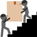 家具専用配送便イメージ 階段上げ