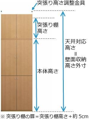 薄型全面扉付き本棚