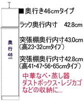 キッチンキャビネットの奥行を選ぶ 奥行46cm