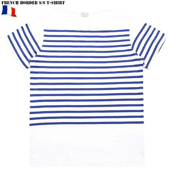 新品 フランス軍ボーダー 半袖tシャツ White Blue