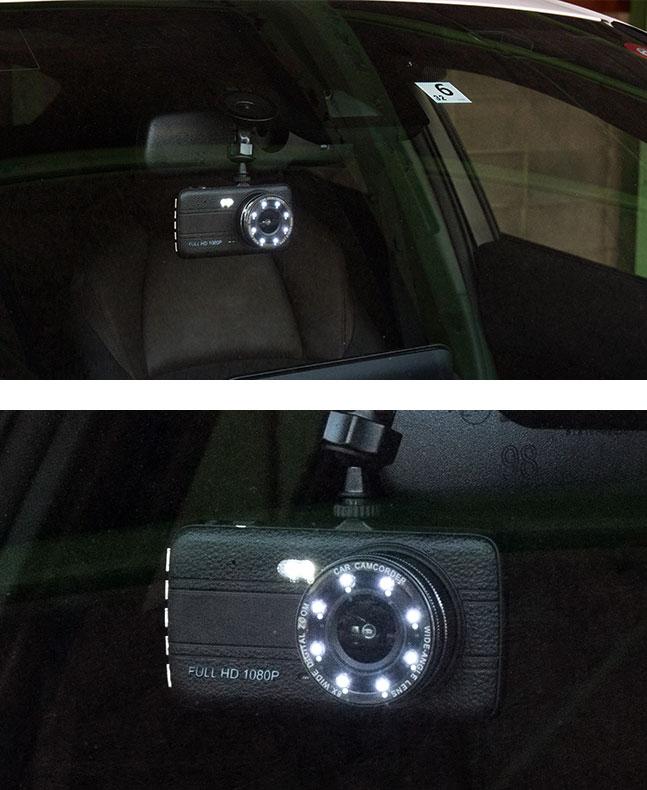 ドライブレコーダー,ドラレコ,前後カメラ,2カメラ,リアカメラ,前方,後方,小型,LED,ライト,大画面,1080p,フルHD,高画質