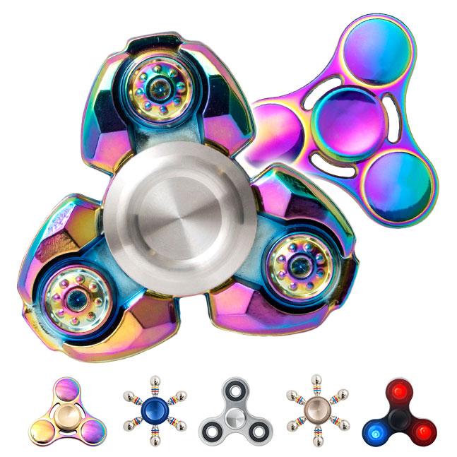 ハンドスピナー,hand spinner,合金,メタル,クール,かっこいい,レインボー,虹色,玉虫色,人気,話題,指スピナー,ストレス解消