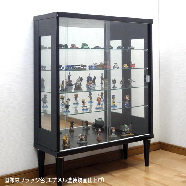 ガラスショーケース75トッポ ブラック色