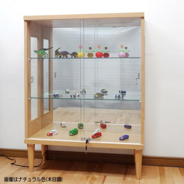 ガラスショーケース75トッポナチュラル色