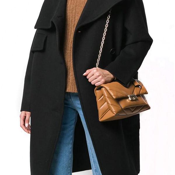 Michael Kors shoulder bag Michael Michael Kors 30T9G0EL8L Cece Medium Quilted Leather Shoulder Bag (Acorn) quilting leather shoulder (brown system)