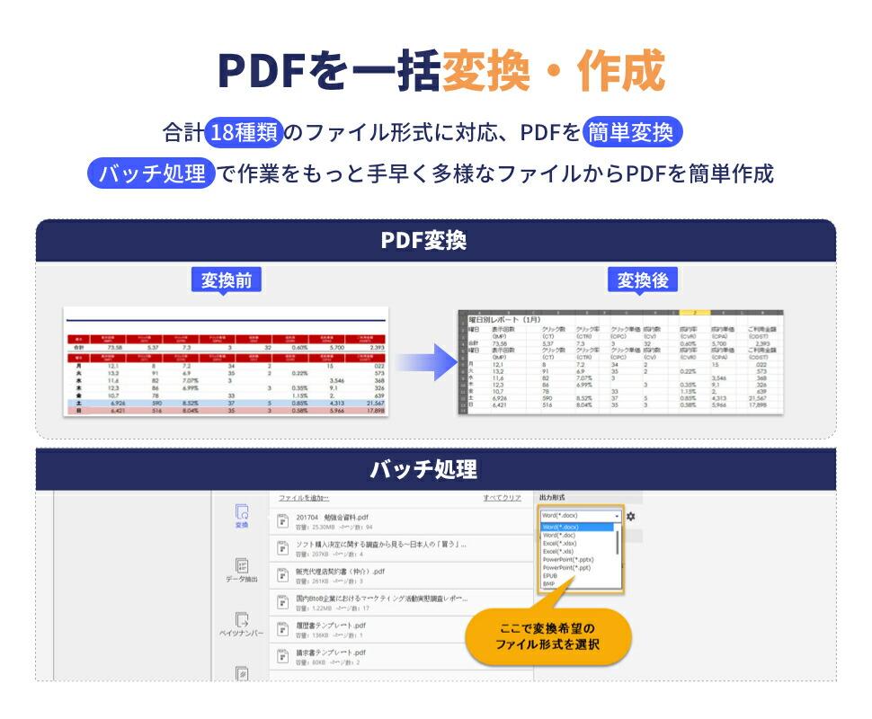 PDF変換作成ソフト